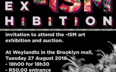 Invitation to attend the -ISM art exhibition and auction